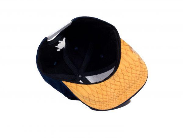 blauwe gele uil pet blue yellow owl cap snapback suede amsterdam