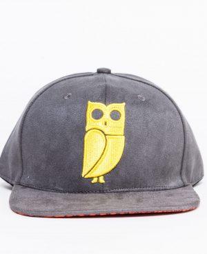 grijze gele uil pet grey yellow owl cap caps snapback suede amsterdam