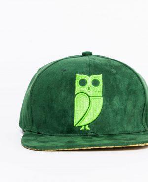groene vogel uil pet green bird owl cap caps snapback suede amsterdam royston drenthe roya 2 faces