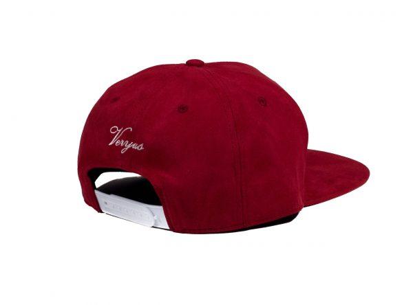 Rode Suede Snapback Cap Veryus