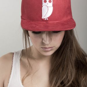 rode uil pet red owl cap caps snapback suede amsterdam