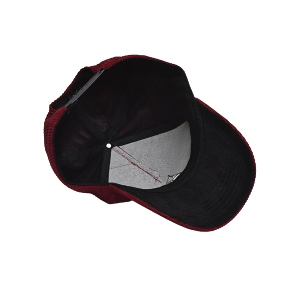 Bordeaux Rode Corduroy Baseball Cap